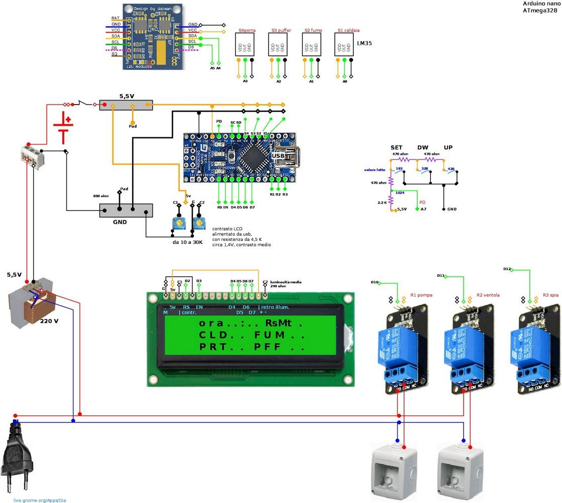 Schemi Elettrici Arduino : Arduino per gestione caldaia